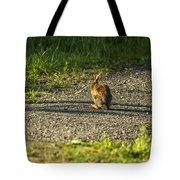 Bunny Eating On The Run Tote Bag