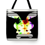 Bunny In Abstract Tote Bag