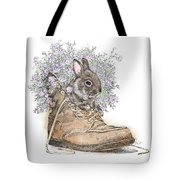 Bunny In Boot Tote Bag