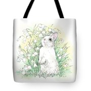 Bunny In White Tote Bag