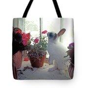 Bunny In Window Tote Bag