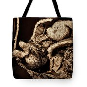 Bunny With Her Bunny - Sepia Tote Bag