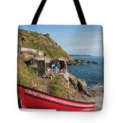Bunty In Priest's Cove Cape Cornwall Tote Bag