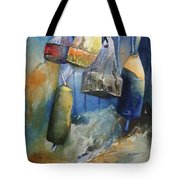 Buoys On The Fence Tote Bag