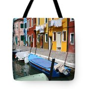 Burano Corner With Laundry Tote Bag