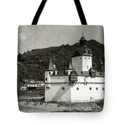 Burg Pfalzgrafenstein Aged Tote Bag