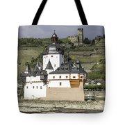 Burg Pfalzgrafenstein And Burg Gutenfals Squared Tote Bag