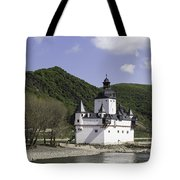 Burg Pfalzgrafenstein Squared Tote Bag