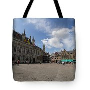 Burg Square In Bruges Belgium Tote Bag