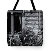 Burgandy Blur Tote Bag