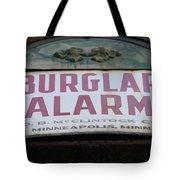 Burglar Alarm Tote Bag