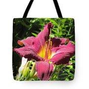 Burgundy Lily Tote Bag