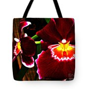 Burgundy Orchids Tote Bag