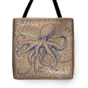 Burlap Octopus Tote Bag