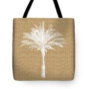 Burlap Palm Tree- Art By Linda Woods Tote Bag