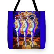 Burlesque Dancers Act One Tote Bag