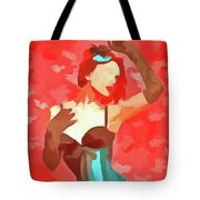 Burlesque Red Tote Bag