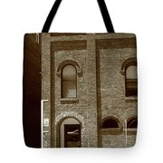 Burlington North Carolina - Arches And Alley Sepia Tote Bag