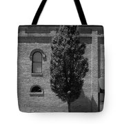 Burlington, North Carolina Sidewalk Bw Tote Bag