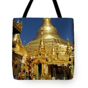 Burma's Golden Pagoda Tote Bag
