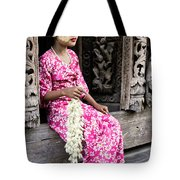 Burmese Flower Vendor Tote Bag