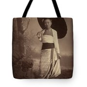 Burmese Lady  Tote Bag