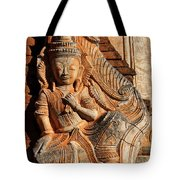 Burmese Pagoda Sculpture Tote Bag