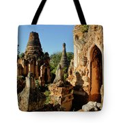 Burmese Pagodas In Ruins Tote Bag