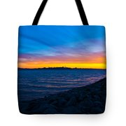Burn Across The Bay Tote Bag
