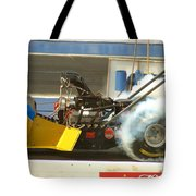 Burn Out On The Track Tote Bag