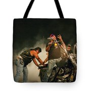 Burn Out Tote Bag