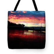 Burn Sunset Tote Bag