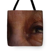 Burned Eyes Tote Bag