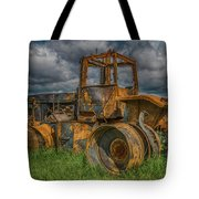 Burned Out Farm Tractor Tote Bag