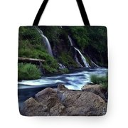 Burney Falls Creek Tote Bag