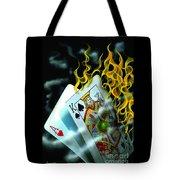 Burning Blackjack Tote Bag