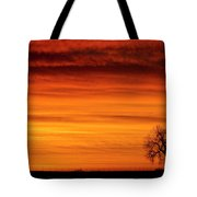 Burning Country Sky Tote Bag