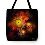 Burning Embers Nebula Tote Bag