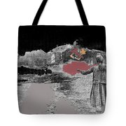 Burning House Destroyed By The Ss Soviet Union Number One 1941 Color Added 2016 Tote Bag