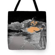 Burning House Destroyed By The Ss Soviet Union Number Two 1941 Color Added 2016 Tote Bag