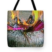 Burning Joss Sticks Tote Bag