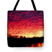 Burning Lake Tote Bag