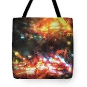 City Of Burning Lights Tote Bag