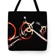 Burning Rings Of Fire Tote Bag