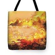 Burning Shore Tote Bag