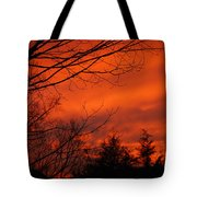 Burning Sky Tote Bag