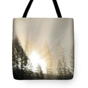Burning Through The Fog Tote Bag