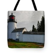 Burnt Island Lighthouse  - The Other Side Tote Bag
