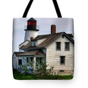 Burnt Island Lighthouse Side View Tote Bag