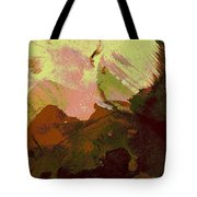 Burnt Sienna Mountains Tote Bag
